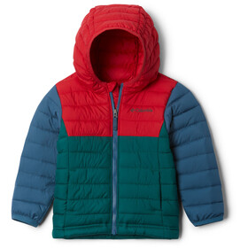 Columbia Powder Lite Hupullinen Takki Pikkulapset, pine green/mountain red/blue heron